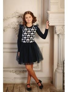 Платье Дували арт.032 сине-белый