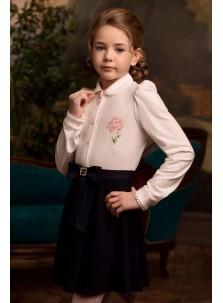 Блузка Розовый Какаду арт 20309 молочный