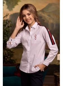 Блузка Розовый Какаду арт 20315 белый