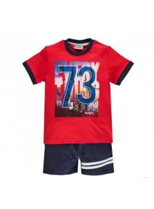 Комплект (футболка+шорты) Мек 201MHEM001 красный