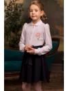 Блузка Розовый Какаду арт 20309 белый