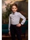 Блузка Розовый Какаду арт 20317 голубой
